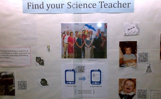Scan and find your science teacher