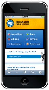 Milwaukee Public Schools Mobile Website