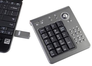USB Wireless Keypad with Track Ball