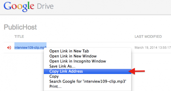 Direct link files in Google Drive